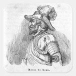 Juan Ponce de León Calcomania Cuadrada Personalizada
