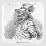 Juan Ponce de León Pegatina Cuadrada