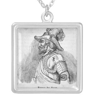 Juan Ponce de Leon Silver Plated Necklace