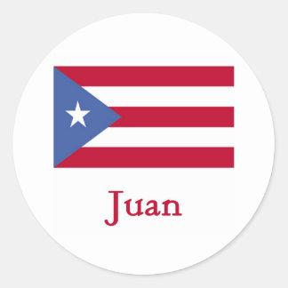 Juan Puerto Rican Flag Classic Round Sticker