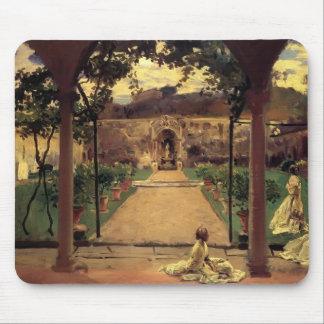 Juan Sargent- en Torre Galli Señoras en un jardín Alfombrillas De Raton