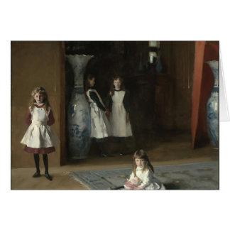 Juan Sargent- las hijas de Edward Darley Boit Tarjeta De Felicitación