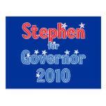 Juan Stephen para el diseño de la estrella del gob Tarjeta Postal