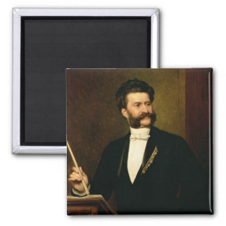 Juan Strauss cuanto el más joven, 1888 Imán Cuadrado