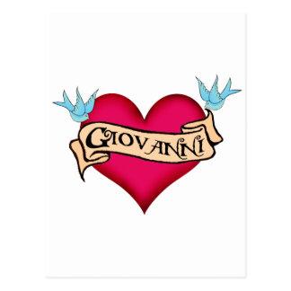 Juan - tatuaje de encargo del corazón postales