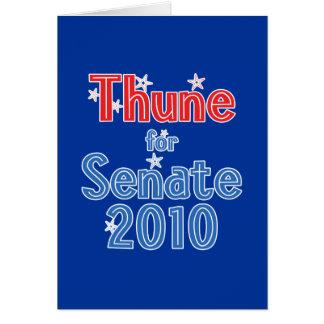 Juan Thune para el diseño de la estrella del senad Tarjeta De Felicitación