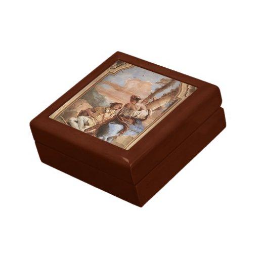 Juan Tiepolo: Angélica que talla el nombre de Medo Cajas De Recuerdo