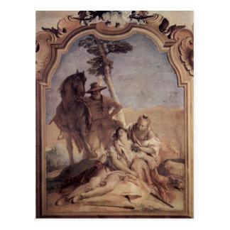 Juan Tiepolo: Angelica&shepherd que cuida Medorus Postal