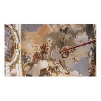 Juan Tiepolo: Apoteosis de la monarquía española Plantilla De Tarjeta De Negocio