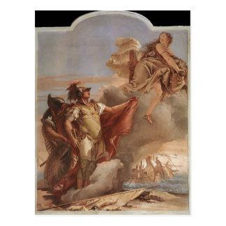 Juan Tiepolo: El adiós de Venus a Aeneas Tarjeta Postal