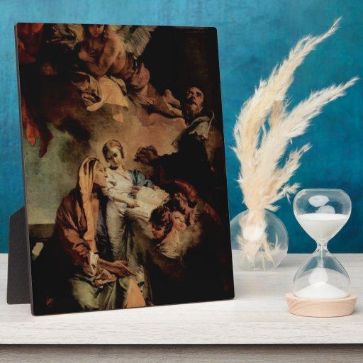 Juan Tiepolo- la educación de la Virgen Placas