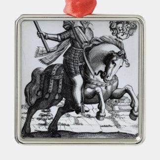 Juan Tserclaes, Graf von Tilly Adorno Navideño Cuadrado De Metal