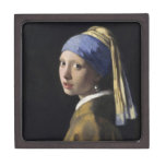 Juan Vermeer - chica con un pendiente de la perla Caja De Joyas De Calidad