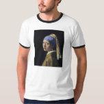 Juan Vermeer - chica con un pendiente de la perla Playeras