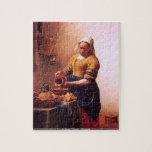 Juan Vermeer - rompecabezas de la criada de la lec
