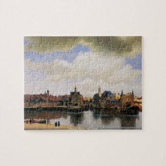 Juan Vermeer - vista del rompecabezas de Delft