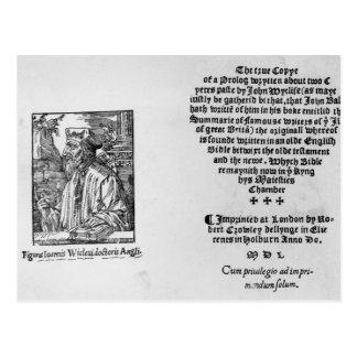 Juan Wycliffe Tarjetas Postales