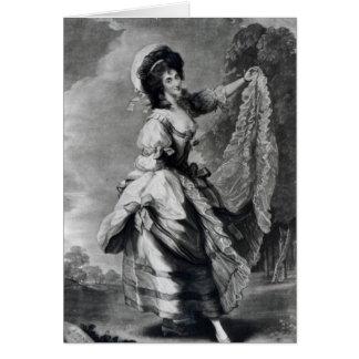Juana Baccelli, grabado por Juan Jones Tarjeta De Felicitación