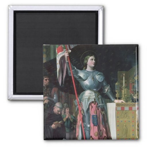 Juana de Arco en la coronación de rey Charles Imán De Nevera