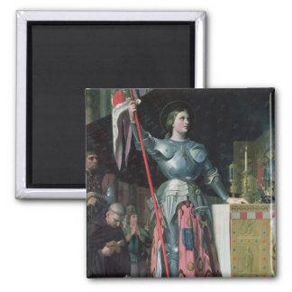 Juana de Arco en la coronación de rey Charles Imán Cuadrado