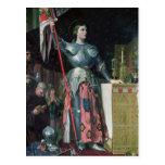 Juana de Arco en la coronación de rey Charles Postales