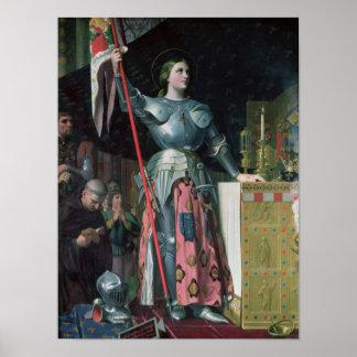 Juana de Arco en la coronación de rey Charles Póster
