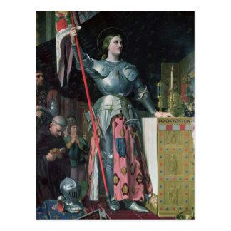 Juana de Arco en la coronación de rey Charles Postal