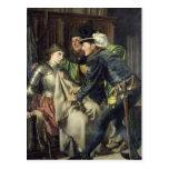 Juana de Arco insultó en la prisión, 1866 Postal