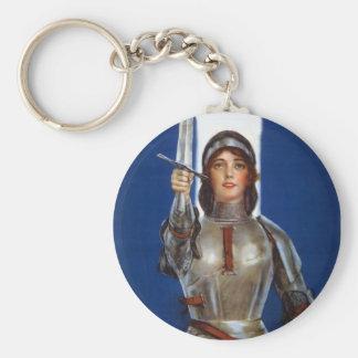 Juana de Arco Llavero Redondo Tipo Pin