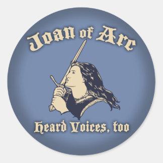 Juana de Arco oyó voces Pegatina Redonda