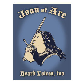 Juana de Arco oyó voces Postal