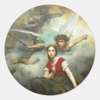 Juana de Arco Pegatinas Redondas