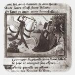 Juana de Arco Pegatina Cuadrada