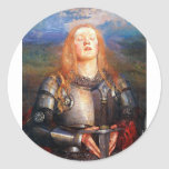 Juana de Arco Pegatina Redonda