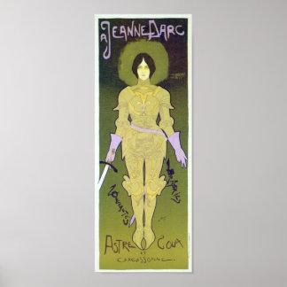 Juana de Arco viste el poster de la publicidad Póster