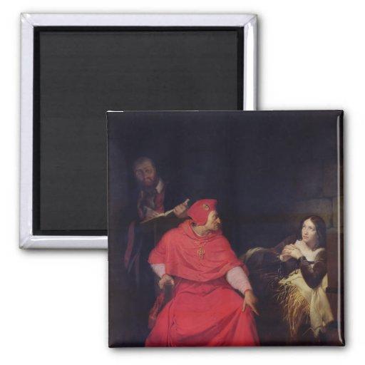 Juana de Arco y el cardenal de Winchester Imán