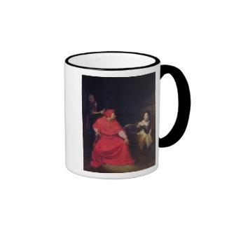 Juana de Arco y el cardenal de Winchester Tazas De Café