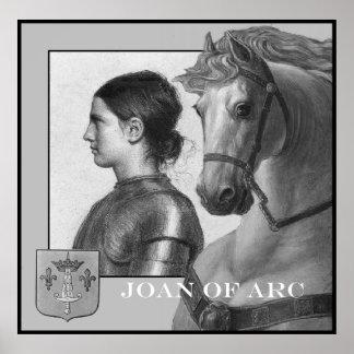 Juana de Arco y su caballo de guerra Póster