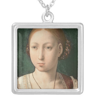 Juana or Joanna of Castile Silver Plated Necklace