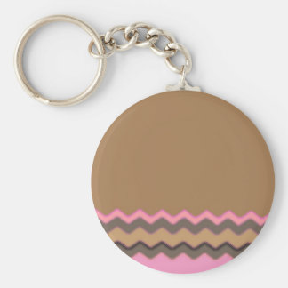 Juanita Chic Chevrons Party Office Peace Love Keychain