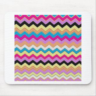 Juanita Pink Chevrons Pattern Peace Love Office Mouse Pad