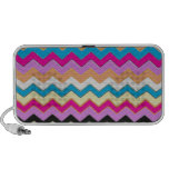 Juanita Pink Chevrons Pattern Peace Love Office iPhone Speakers