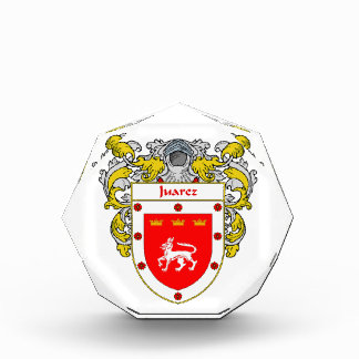 Juarez Coat of Arms Family Crest Acrylic Award