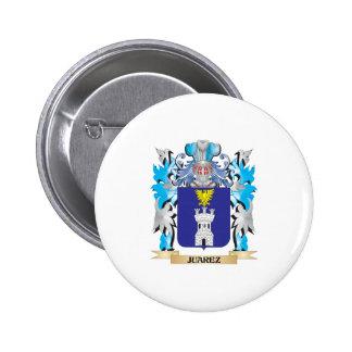 Juarez Coat of Arms - Family Crest Pinback Buttons
