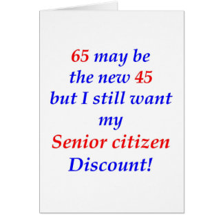 Jubilado 65 tarjetas