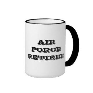 Jubilado de la fuerza aérea de la taza
