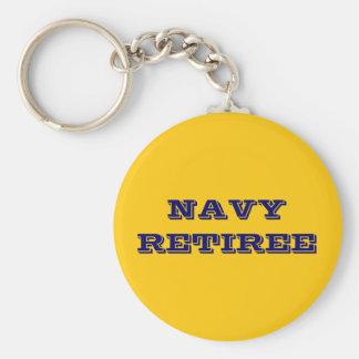 Jubilado de la marina de guerra del llavero