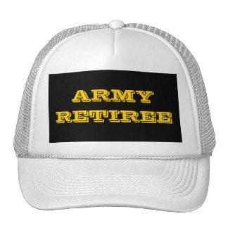 Jubilado del ejército del gorra