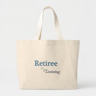 Jubilado en el entrenamiento bolsa