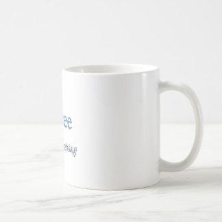 Jubilado en el entrenamiento tazas de café